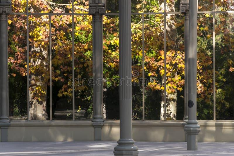 Krystaliczny pałac Retiro park w mieście Madryt zdjęcie royalty free