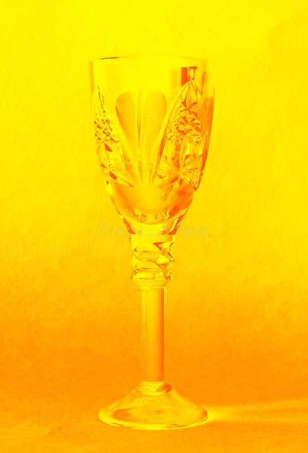 Krystaliczny wina szkło zdjęcie stock