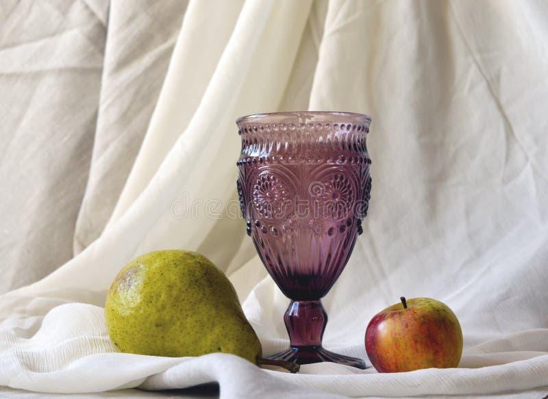 Krystaliczny wina szkło zdjęcia royalty free