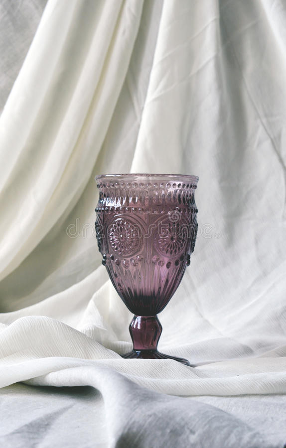 Krystaliczny wina szkło fotografia royalty free