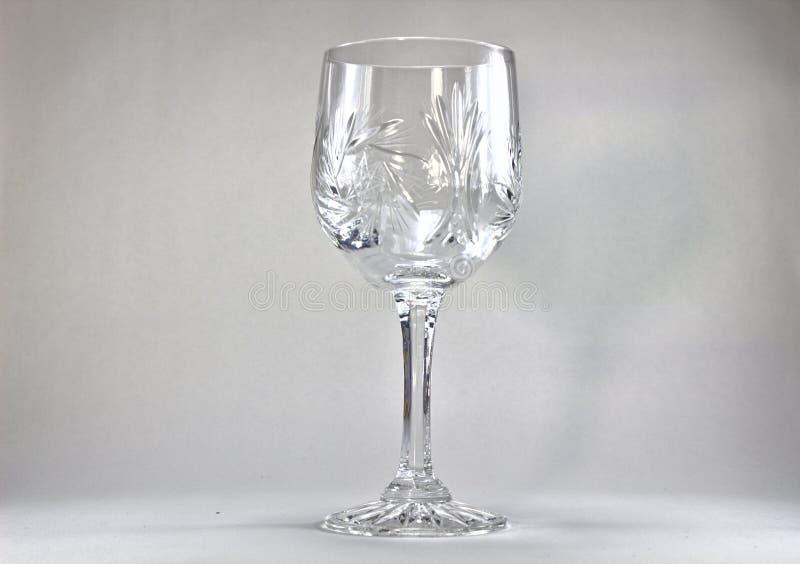 Krystaliczny wina szkło 3165 zdjęcia royalty free