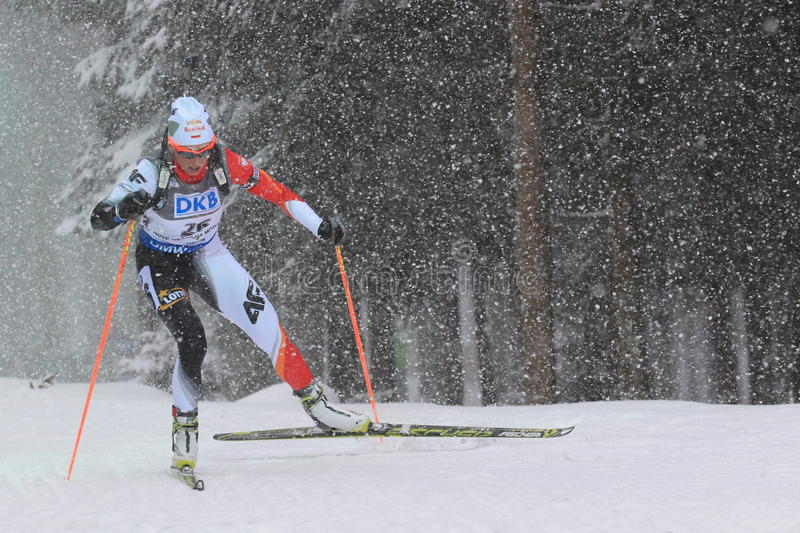 Download Krystyn Guzik - biathlon editorial stock photo. Image of vysocina - 50012658