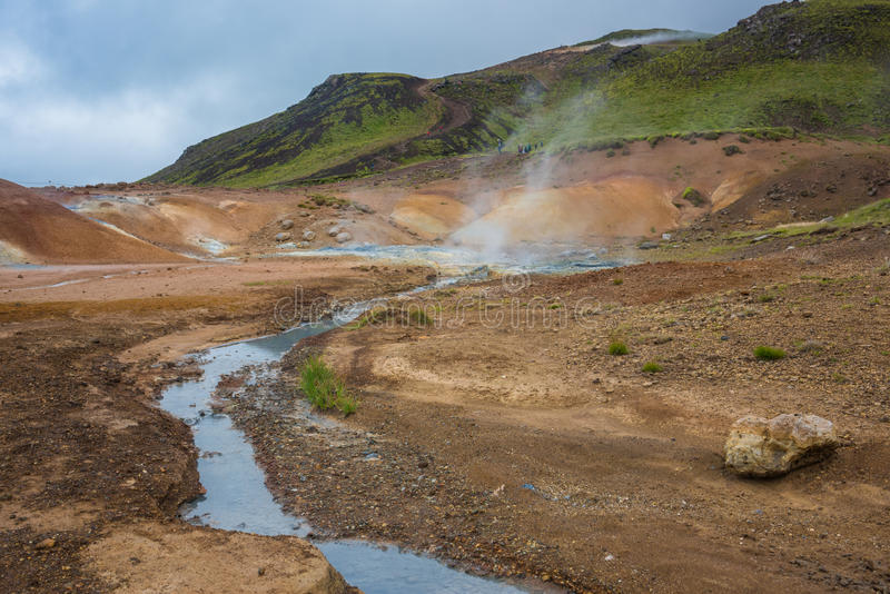 Krysuvik geotermiczny teren, Iceland zdjęcia royalty free