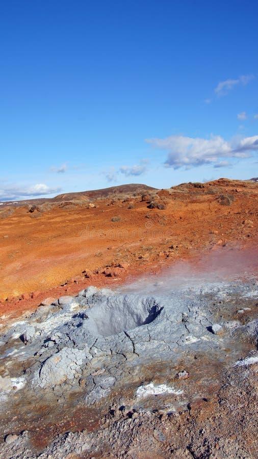 Krysuvik geotermiczny teren Seltun w Iceland zdjęcia royalty free