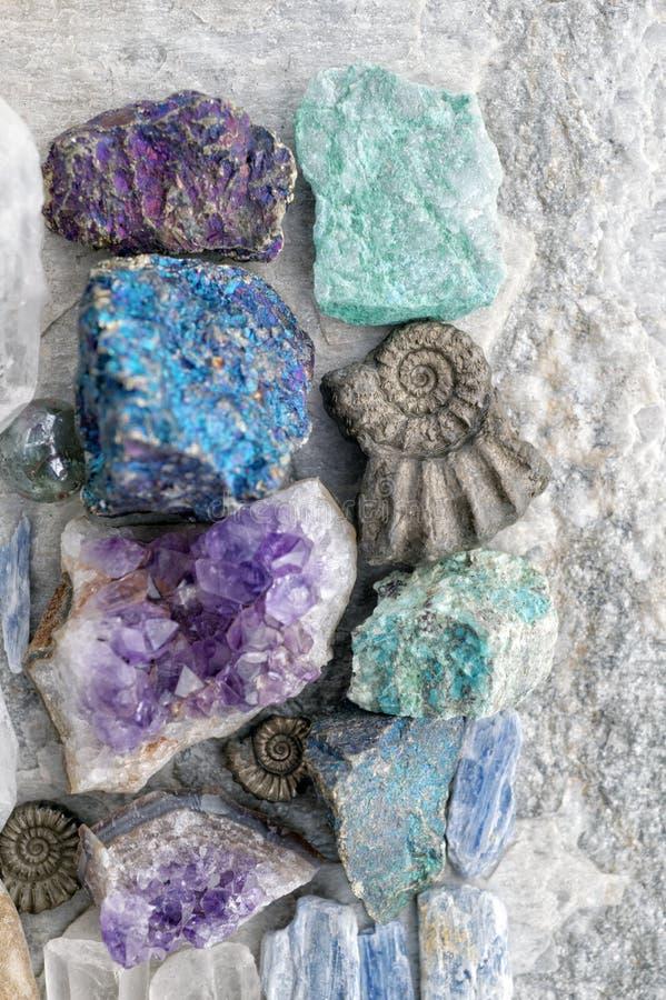 Kryształ I Kamienie Uzdrawiające Skały fotografia royalty free