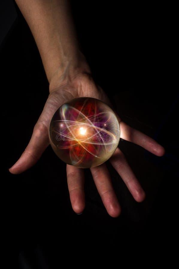 Kryształowa Kula atom obrazy royalty free