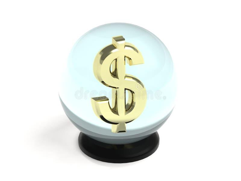 Kryształowa Kula dolar royalty ilustracja
