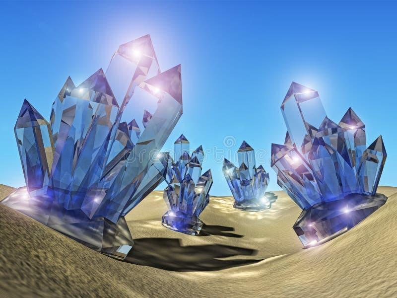 kryształy ilustracja wektor