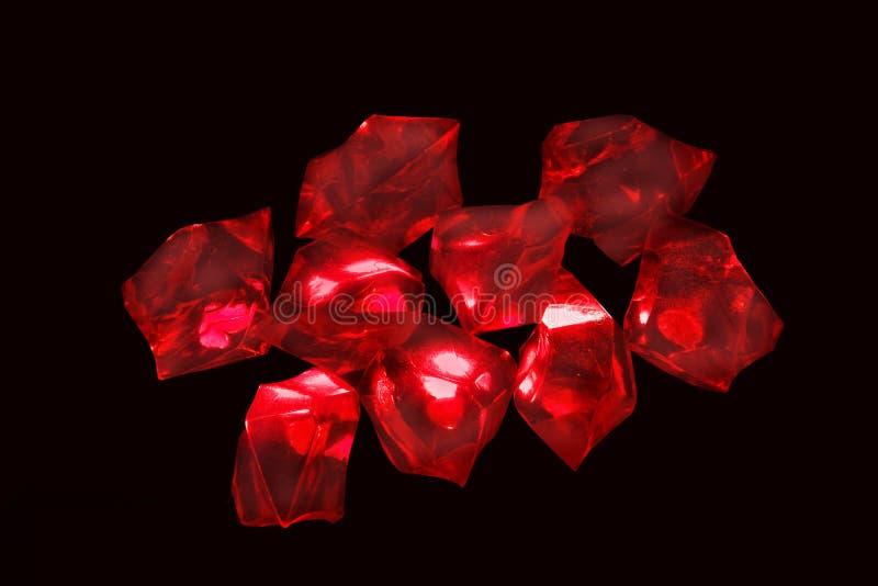 kryształy czerwoni obraz royalty free