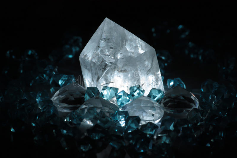 kryształy naturalni obraz stock