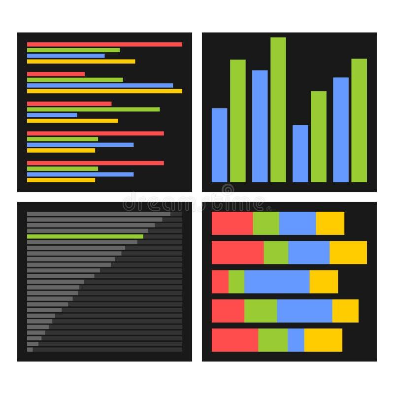Kryterium wskaźniki i wektor ilustracji