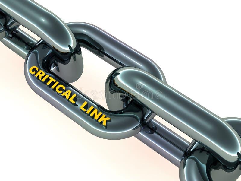 Krytyczny połączenie w łańcuchu ilustracja wektor