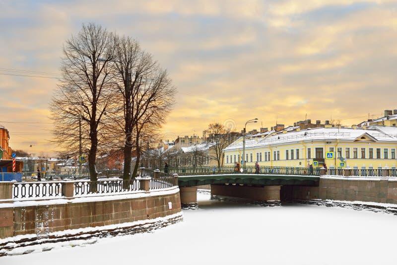 Kryukovkanaal, St. Petersburg, Rusland stock afbeeldingen