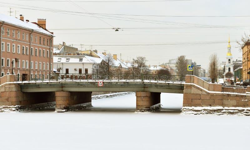 Kryukovkanaal, St. Petersburg, Rusland stock foto's