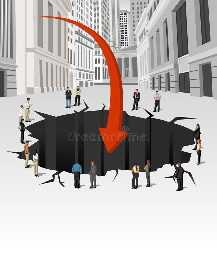 Kryzys finansowy. ilustracji