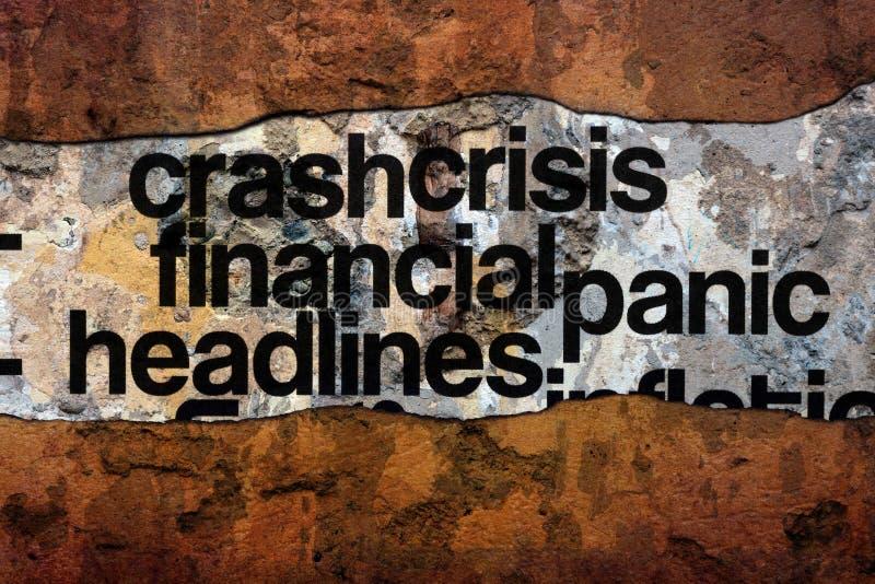 kryzys finansowy nadaje tytuł tekst na ścianie fotografia royalty free