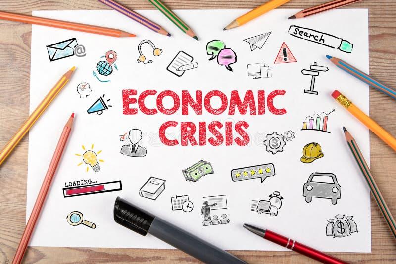 Kryzys gospodarczy Problemy finansowe, bankructwo, poszukiwanie pracy i koncepcja bezrobocia obrazy stock