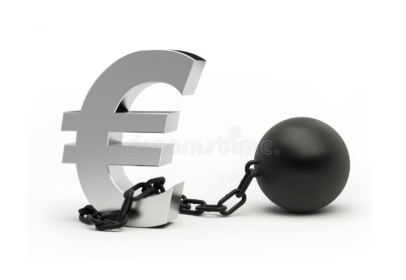 kryzys pieniężny ilustracja wektor