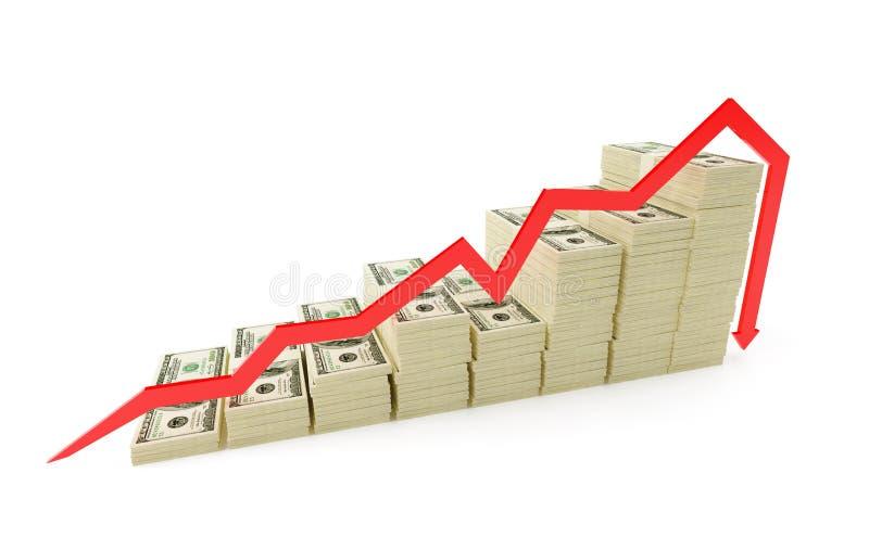 kryzys pieniężny royalty ilustracja