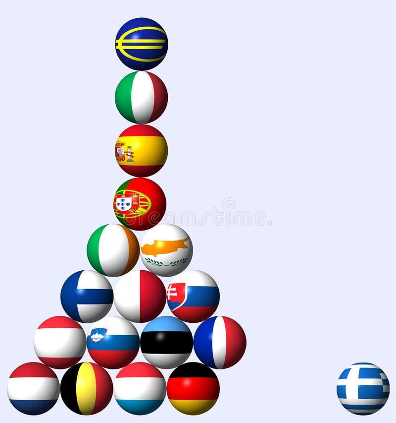 kryzysu długu europejczyk ilustracji