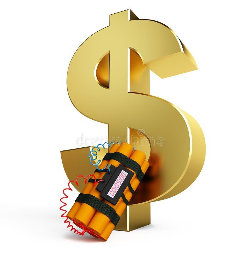 kryzysu dolara dynamit royalty ilustracja