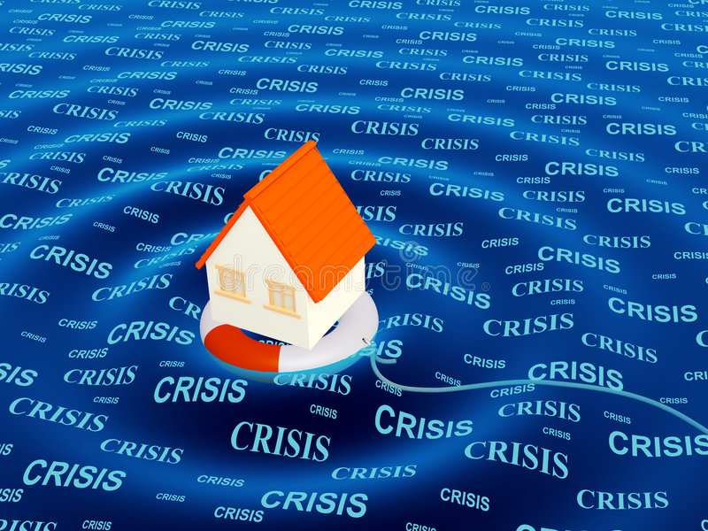 kryzysu pomoc sytuacja royalty ilustracja