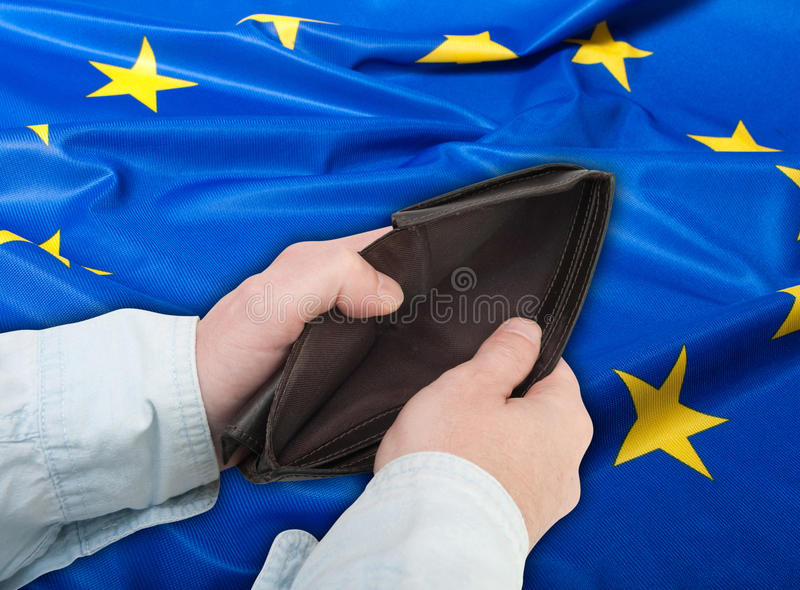 kryzysu zjednoczenie europejski pieniężny zdjęcia royalty free