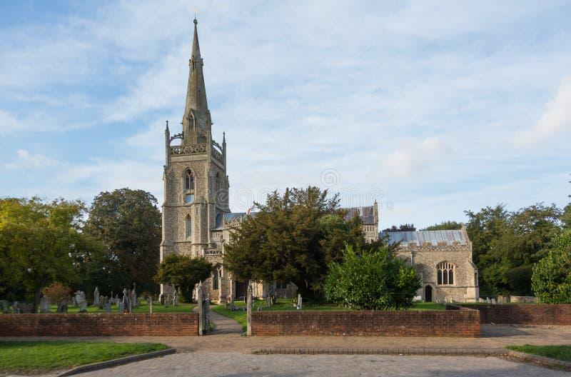 Krzemienia kościół w Woolpit Suffolk zdjęcie royalty free