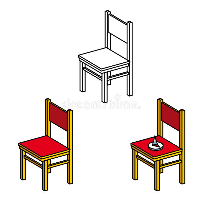 krzesła biura pushpin royalty ilustracja