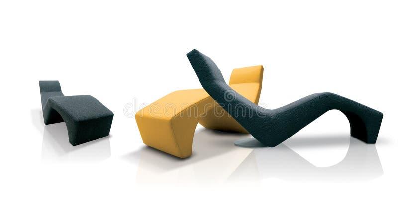 krzesła coloured nowożytny zdjęcia stock