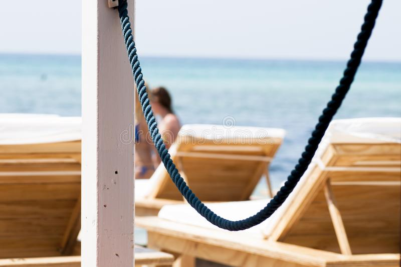 Krzesła na plaży fotografia royalty free