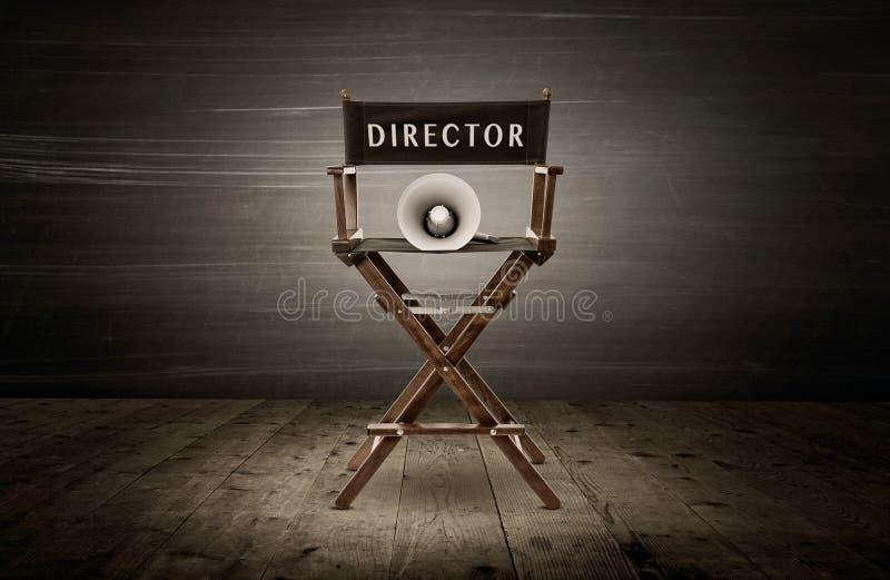 krzesła projekta dyrektor tkaniny meblarskiego kawałka biały drewniany obrazy royalty free
