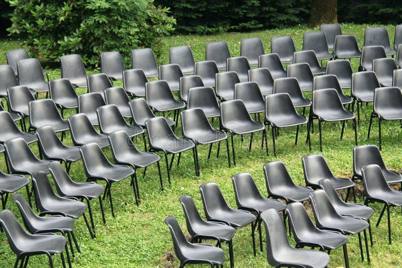 Krzesła przedstawienie fotografia stock