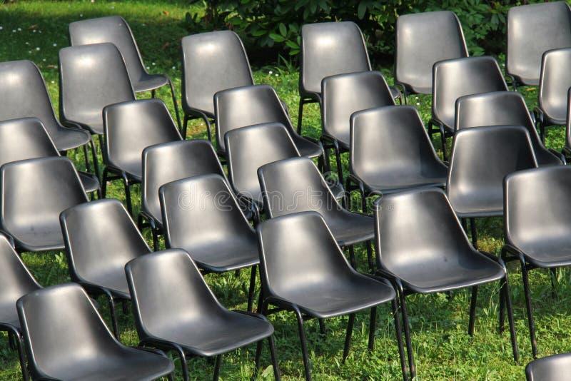 Krzesła przedstawienie zdjęcie royalty free