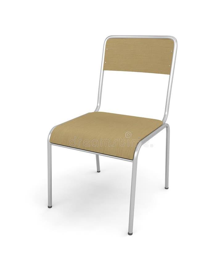 Krzesła siedzenia meblarski wewnętrzny drewniany wystrój royalty ilustracja
