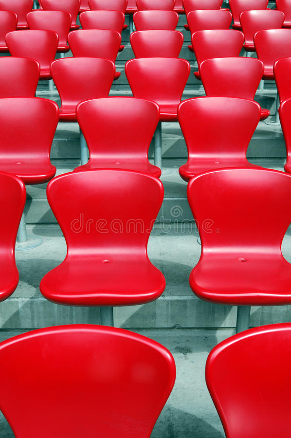 krzesła stadium obraz stock