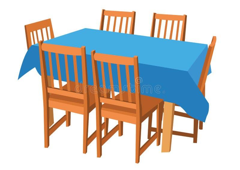 krzesła target2806_0_ stół ilustracji