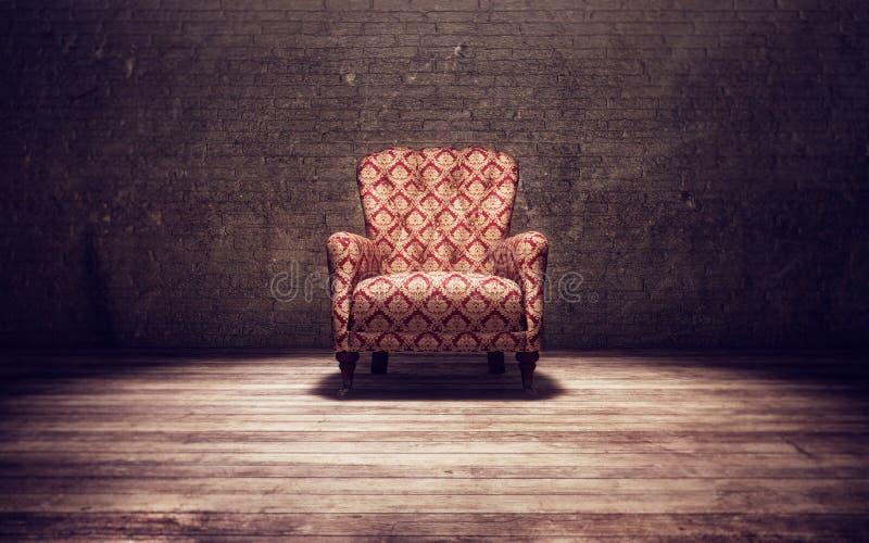 krzesła vitage stary izbowy fotografia royalty free