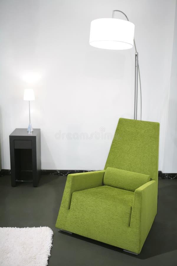 krzesła wnętrze łatwy zielony zdjęcie royalty free