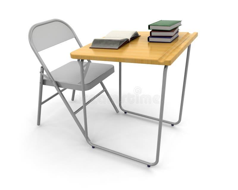 krzesło biurko ilustracji