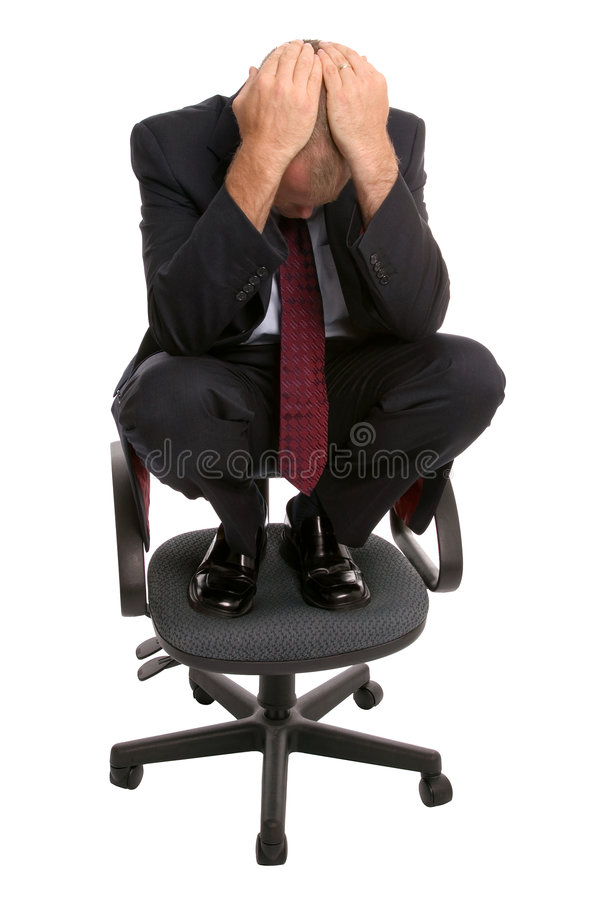 krzesło biznesmena zdjęcia royalty free