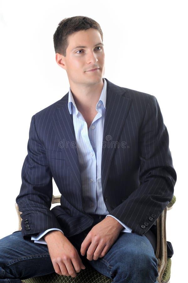krzesło biznesowy mężczyzna zdjęcia stock