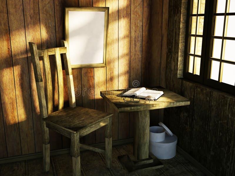 Krzesło blisko stołu ilustracja wektor