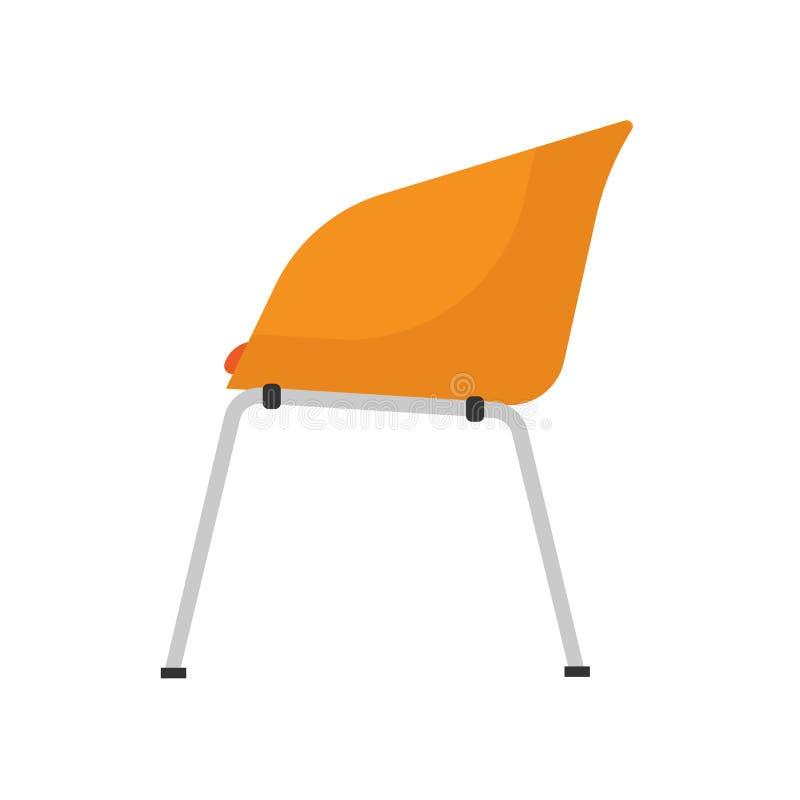 Krzesło bocznego widoku ikony restauracyjna wektorowa ilustracja Projekta p?askiego baru wn?trza meblarski element Bufet sylwetki royalty ilustracja