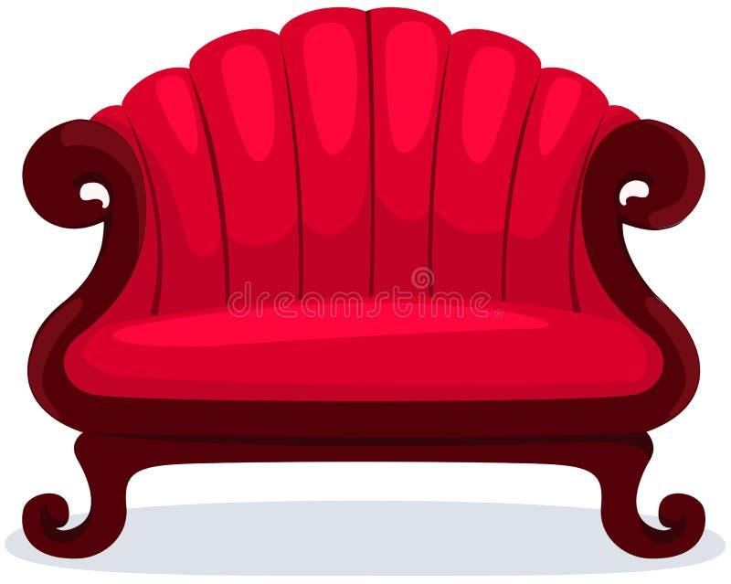krzesło czerwień royalty ilustracja