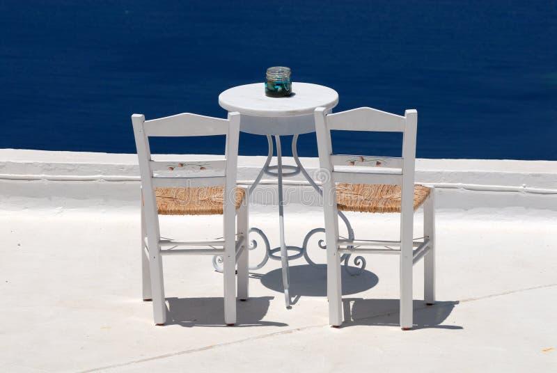 krzesło dachu taras zdjęcie stock