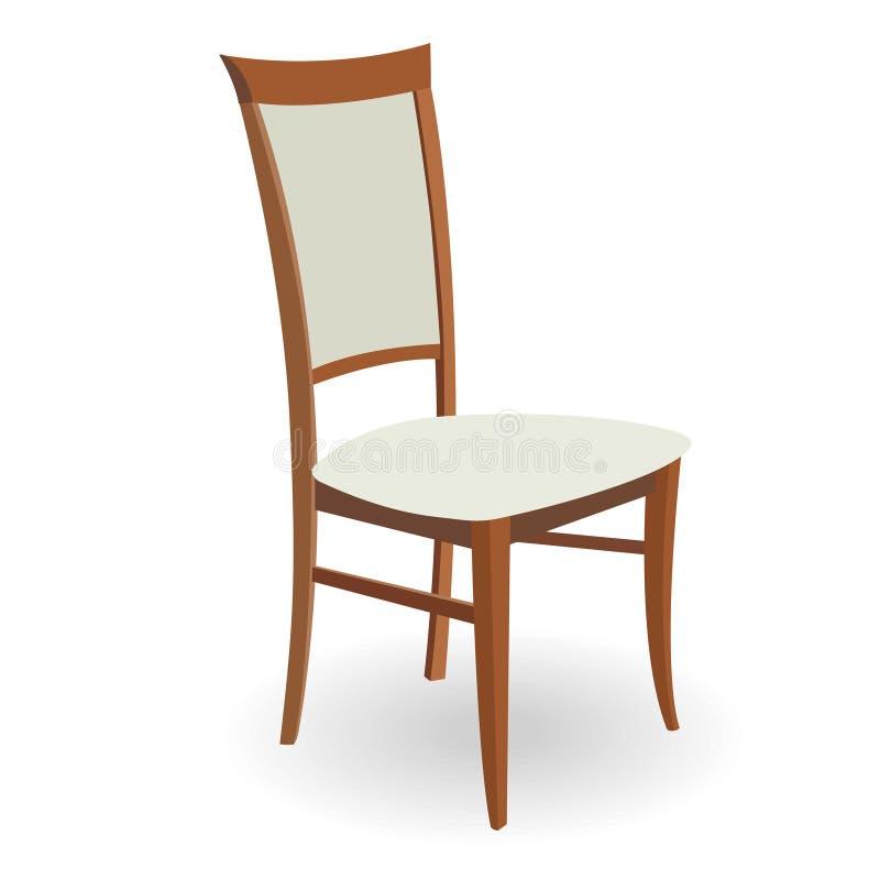 krzesło drewniany royalty ilustracja