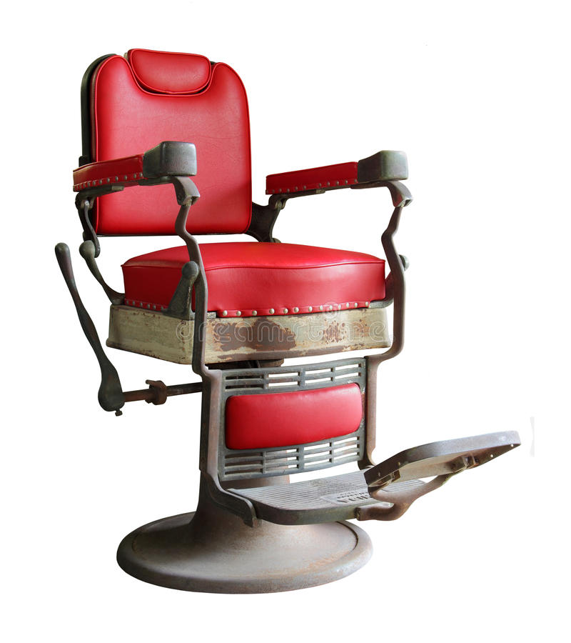 krzesło fryzjerskie stary obraz royalty free