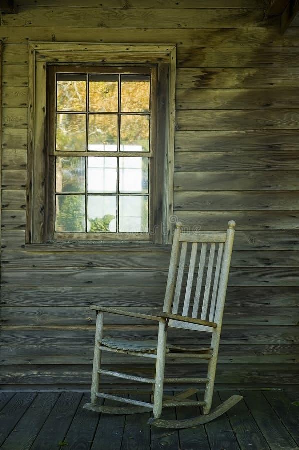 krzesło ganku rocka fotografia stock
