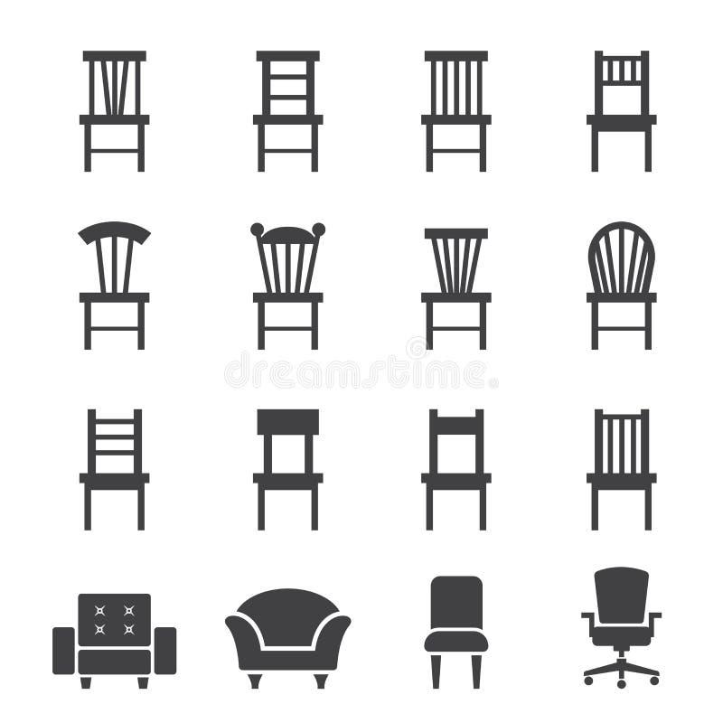 Krzesło ikona royalty ilustracja